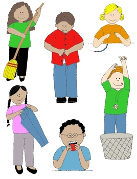 Kids in Action 4: LOTS MORE Verbs, Illustrated! 24 PNGs for Routines & Skills