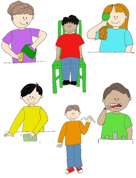 Kids in Action 4: LOTS MORE Verbs, Illustrated! 24 PNGs fo