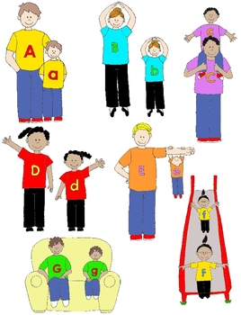 Kids in Action:  Alphabet Gang Clip Art 52 PNGs