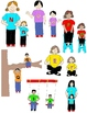 Kids in Action:  Alphabet Gang Clip Art 52 PNGs