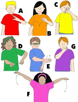 Kids in Action: Alphabet Motion Clip Art to Teach Letter Sounds Using Actions