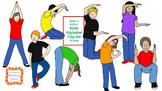 Kids in Action:  Body Alphabet Clip Art 52 pngs