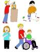 Kids in Action: Citizenship and Service Clip Art 22 PNGs
