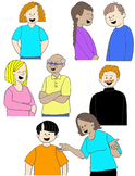 Kids in Action:  Conversation Clip Art 1  48 PNGs