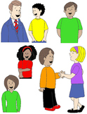 Kids in Action: Conversation Clip Art 2 48 PNGs