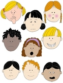 Kids in Action: Faces 2 Clip Art 18 FREE pngs to Show Feelings and Emotions