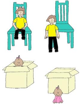 Kids in Action:  Opposites Clip Art 56 PNGs