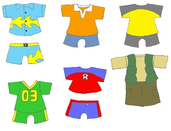 kids in action paper dolls for spring and summer clip art