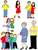 Kids in Action:  Pronouns Clip Art 48 PNGs