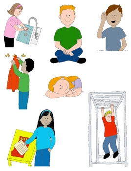kids in action school days 2 clip art 24 pngs for schedules and skills rh teacherspayteachers com Raise Hand Clip Art Listen to Teacher Clip Art