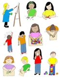 Kids in Action: School Days 3 Clip Art! 22 PNGs for Schedules and Skills