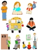 Kids in Action: School Days Clip Art!  26 PNGs for Routines, Skills, & Schedules