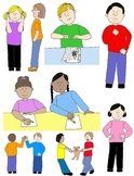 Kids in Action: Social Skills and Pragmatic Language Visuals 1 Clip Art 60 PNGs