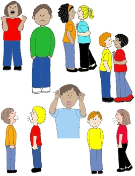 Kids in Action: Social Skills and Pragmatic Language Visuals 1 Clip Art 60 PNGs