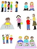 Kids in Action: Social Skills and Pragmatic Language Visuals 2 Clip Art 50 PNGs