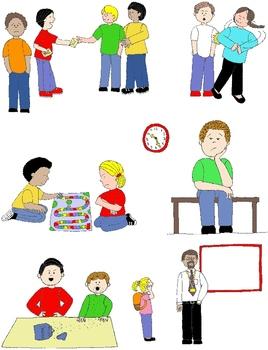 Kids in Action: Social Skills and Pragmatic Language Visuals 2 Clip Art 50 PNGs