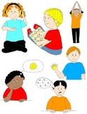 Kids in Action: Social Skills and Pragmatic Language Visuals 3 Clip Art 48 PNGs