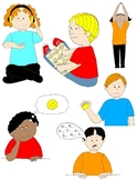 Kids in Action: Social Skills and Pragmatic Language Visuals 3 Clip Art 48 PNGs