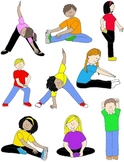 Kids in Action: Stretches and Warm-Ups Clip Art 18 PNGs