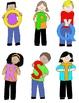 Kids in Action:  Uppercase Letter Kids Clip Art  52 PNGs