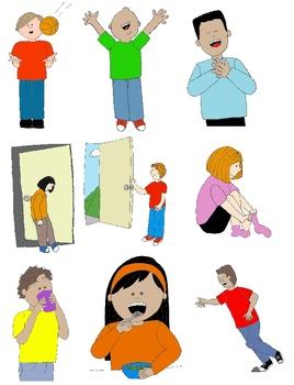 Kids in Action: Verbs Illustrated Clip Art Bundle