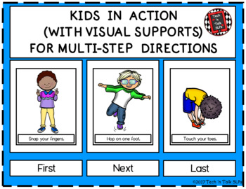 Kids in Action (With Visual Supports) for Multi-Step Directions