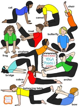 Kids in Action: Yoga Poses BUNDLE  Includes 8 EXCLUSIVE IMAGES