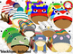 Kids in Animal Winter Hats Clipart (Personal & Commercial Use)