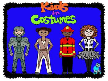 Kids in Costume Clip Art