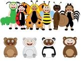 Kids in Costumes Clip Art