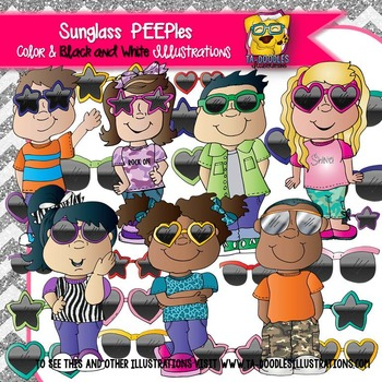 Kids in Sunglasses PEEPles Clip Art