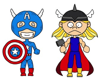 Comic Kids: Super Hero and Villain Clip Art Collection