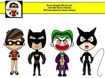 Comic Kids: Super Hero and Villain Clip Art Collection