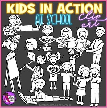 Kids in Action clip art