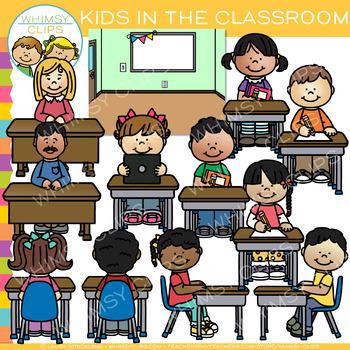 Kids in the Classroom Clip Art