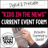 Current Event Worksheet - Kids in the News