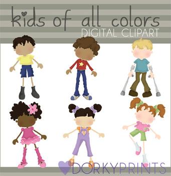 Kids of All Colors Digital Clip Art