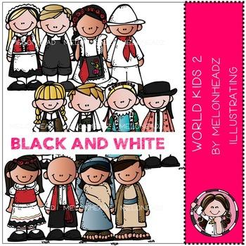 World Kids 2 by Melonheadz BLACK AND WHITE