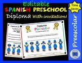Kids on Books Spanish Preschool Diploma - Editable