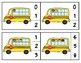 Kids on the Bus Ten Frame Clip Cards through 20
