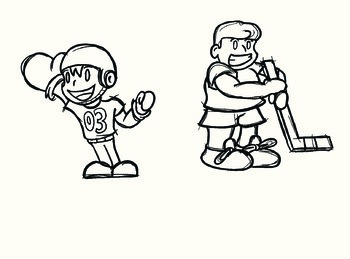 Kids playing sports (Clip Art)