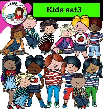 Kids set3 clip art- Color and B&W