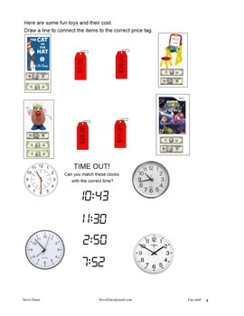 Kids stuff! Sudoku, bar graphs, money, clocks/telling time, and silly jokes
