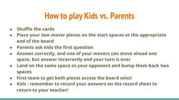 Kids vs. Parents Virginia Studies Review (Game 1)