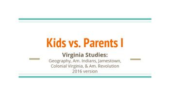 Kids vs. Parents Virginia Studies Review (Game 1)