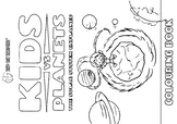 Kids vs Planets - coloring book