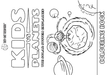 Kids vs Planets - coloring book by Red Cat Reading | TpT