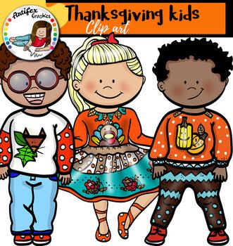 Thanksgiving kids clip art
