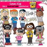 Kids with Cameras Clipart -Bright Eyes Collection