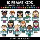 Candy Heart Ten Frame Kids Clipart